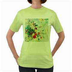 Floral Bouquet Women s Green T-shirt by Sobalvarro