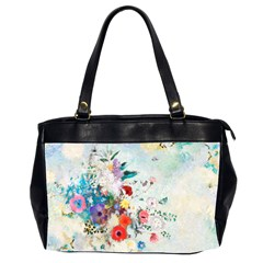 Floral Bouquet Oversize Office Handbag (2 Sides) by Sobalvarro