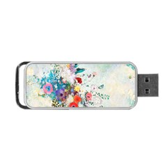 Floral Bouquet Portable Usb Flash (two Sides) by Sobalvarro