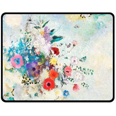 Floral Bouquet Double Sided Fleece Blanket (medium)  by Sobalvarro