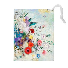 Floral Bouquet Drawstring Pouch (xl) by Sobalvarro
