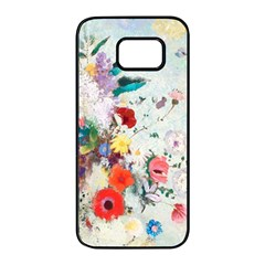 Floral Bouquet Samsung Galaxy S7 Edge Black Seamless Case by Sobalvarro
