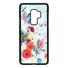 Floral Bouquet Samsung Galaxy S9 Plus Seamless Case(black) by Sobalvarro