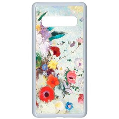 Floral Bouquet Samsung Galaxy S10 Seamless Case(white) by Sobalvarro