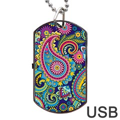 Ornament Dog Tag Usb Flash (one Side) by Sobalvarro