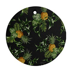 Pineapples Pattern Ornament (round) by Sobalvarro
