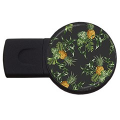 Pineapples Pattern Usb Flash Drive Round (4 Gb) by Sobalvarro