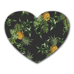 Pineapples Pattern Heart Mousepads by Sobalvarro