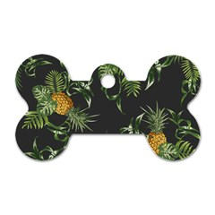 Pineapples Pattern Dog Tag Bone (one Side) by Sobalvarro