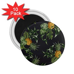 Pineapples Pattern 2 25  Magnets (10 Pack)  by Sobalvarro