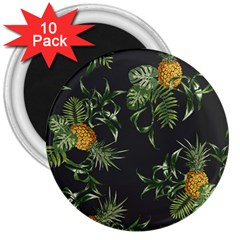 Pineapples Pattern 3  Magnets (10 Pack)  by Sobalvarro