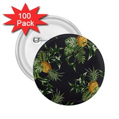 Pineapples Pattern 2 25  Buttons (100 Pack)  by Sobalvarro