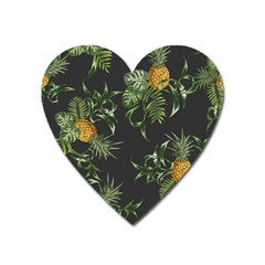 Pineapples Pattern Heart Magnet by Sobalvarro