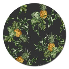 Pineapples Pattern Magnet 5  (round) by Sobalvarro