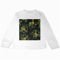 Pineapples Pattern Kids Long Sleeve T-shirts by Sobalvarro