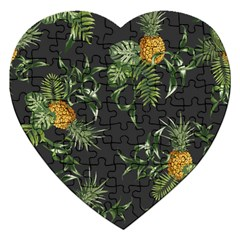 Pineapples Pattern Jigsaw Puzzle (heart) by Sobalvarro