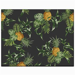 Pineapples Pattern Canvas 11  X 14  by Sobalvarro