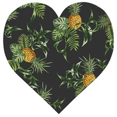 Pineapples Pattern Wooden Puzzle Heart