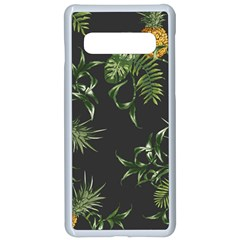 Pineapples Pattern Samsung Galaxy S10 Seamless Case(white) by Sobalvarro
