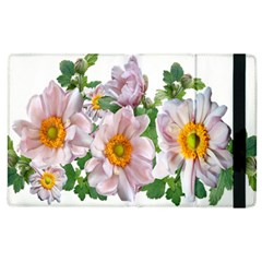 Flowers Anemone Arrangement Cut Out Apple Ipad 2 Flip Case by Simbadda