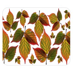 Leaves Autumn Fall Colorful Double Sided Flano Blanket (small)  by Simbadda