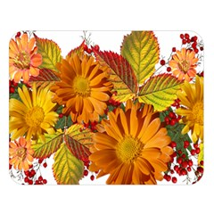 Flowers Arrangement Autumn Daisies Double Sided Flano Blanket (large)  by Simbadda