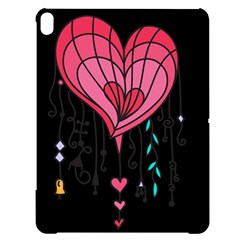 Heart Dangle Design Apple Ipad Pro 12 9   Black Uv Print Case by evolutiondesignuk