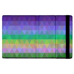 Abstract Texture Triangle Geometric Apple Ipad Mini 4 Flip Case by Simbadda
