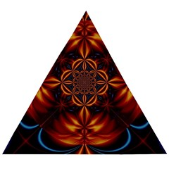 Abstract Art Artwork Fractal Design Wooden Puzzle Triangle by Simbadda