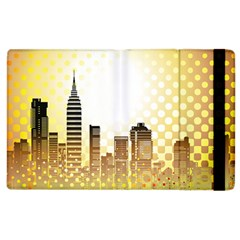 Life Urban City Scene Building Apple Ipad 2 Flip Case by Simbadda