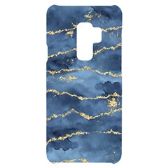 Gold Veined Watercolor Design Samsung S9 Plus Black Uv Print Case