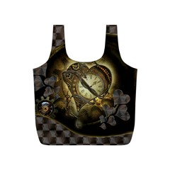 Wonderful Elegant Steampunk Heart, Beautiful Clockwork Full Print Recycle Bag (s)