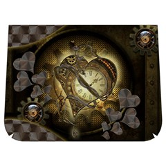 Wonderful Elegant Steampunk Heart, Beautiful Clockwork Buckle Messenger Bag