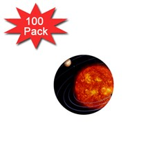 Solar System Planet Planetary System 1  Mini Magnets (100 Pack)