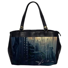 Apocalypse Post Apocalyptic Oversize Office Handbag (2 Sides) by Sudhe