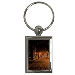 City Night Dark Architecture Lamps Key Chain (rectangle)