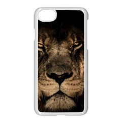 African Lion Wildcat Mane Closeup Iphone 8 Seamless Case (white) by Sudhe