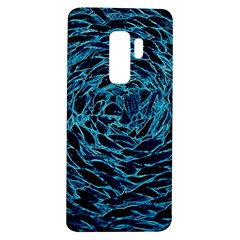 Neon Abstract Surface Texture Blue Samsung Galaxy S9 Plus Tpu Uv Case by HermanTelo