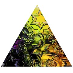 Background Star Abstract Colorful Wooden Puzzle Triangle