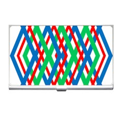 Geometric Line Rainbow Business Card Holder