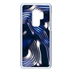 Structure Blue Background Samsung Galaxy S9 Plus Seamless Case(white) by Jojostore