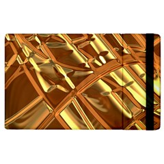 Gold Background Form Color Apple Ipad 2 Flip Case by Alisyart
