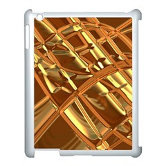 Gold Background Form Color Apple Ipad 3/4 Case (white)