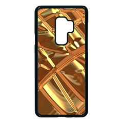Gold Background Form Color Samsung Galaxy S9 Plus Seamless Case(black)