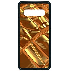 Gold Background Form Color Samsung Galaxy S10 Seamless Case(black) by Alisyart