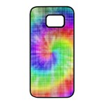 Watercolor Painted Samsung Galaxy S7 edge Black Seamless Case Front