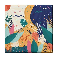 Tropical Pattern Tile Coaster