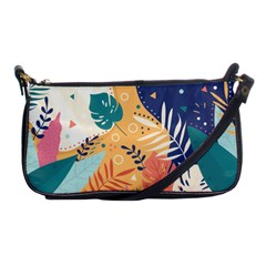 Tropical Pattern Shoulder Clutch Bag