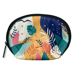 Tropical Pattern Accessory Pouch (medium)