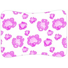 Pink Flower Velour Seat Head Rest Cushion